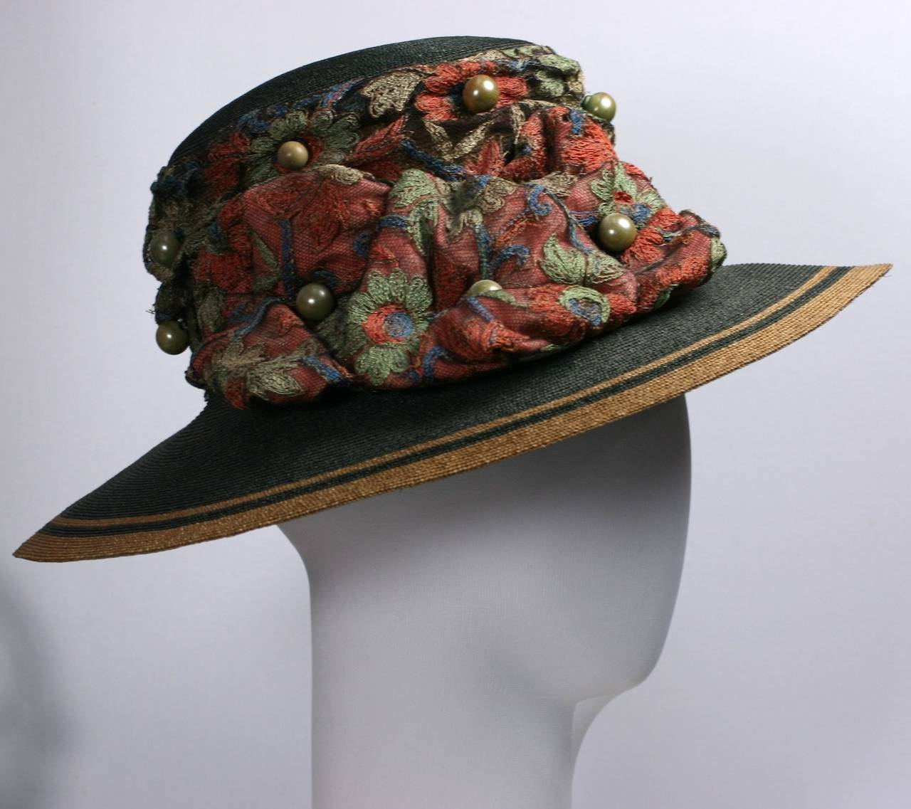 Edwardian Straw Afternoon Hat For Sale 2