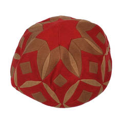 Lenci Art Deco Pieced Hat