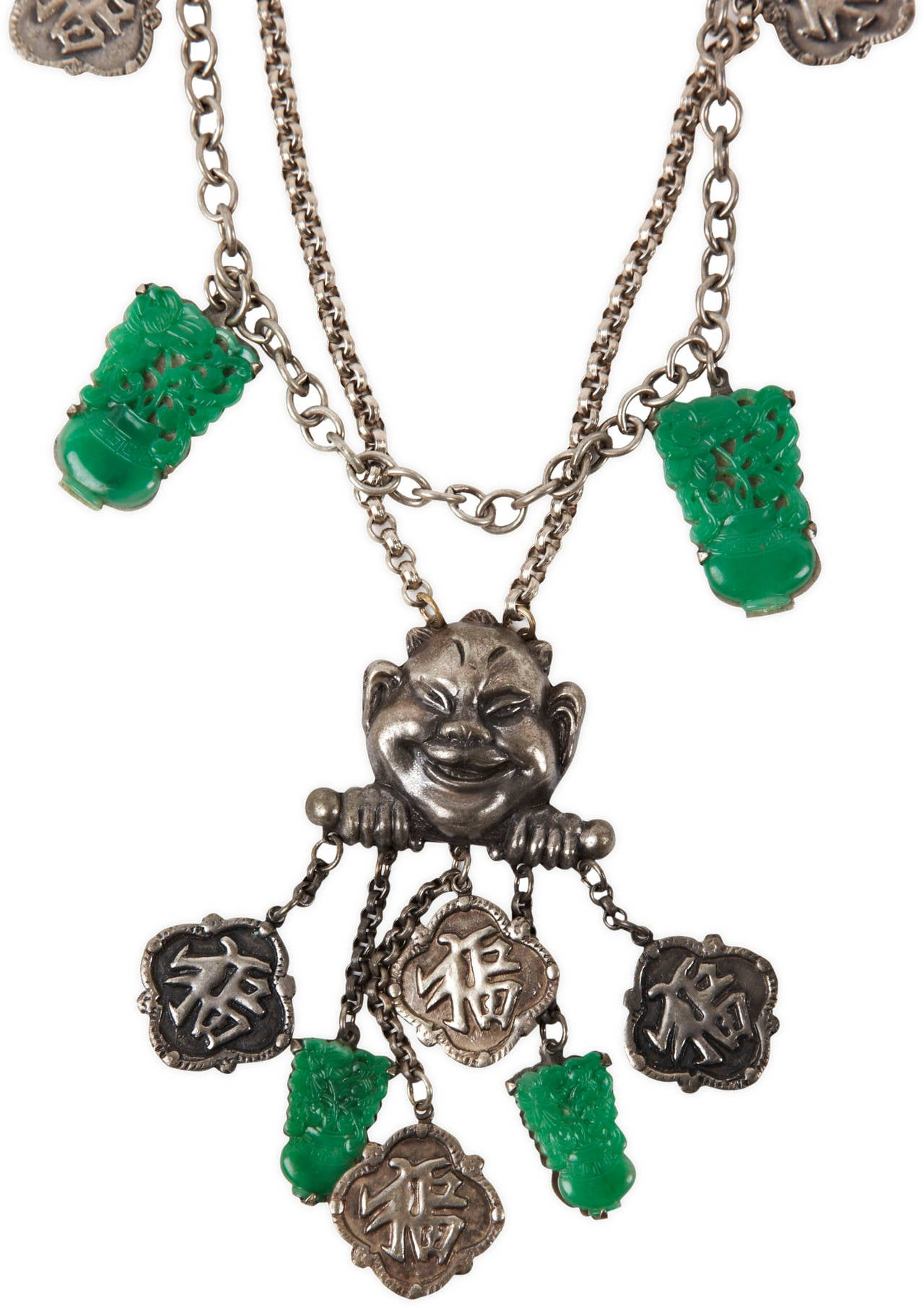 Amusing Asian Style Art Deco Necklace In Excellent Condition For Sale In Riverdale, NY