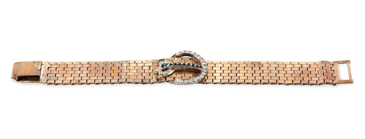 Kreisler Retro Link Buckle Bracelet In Excellent Condition For Sale In Riverdale, NY