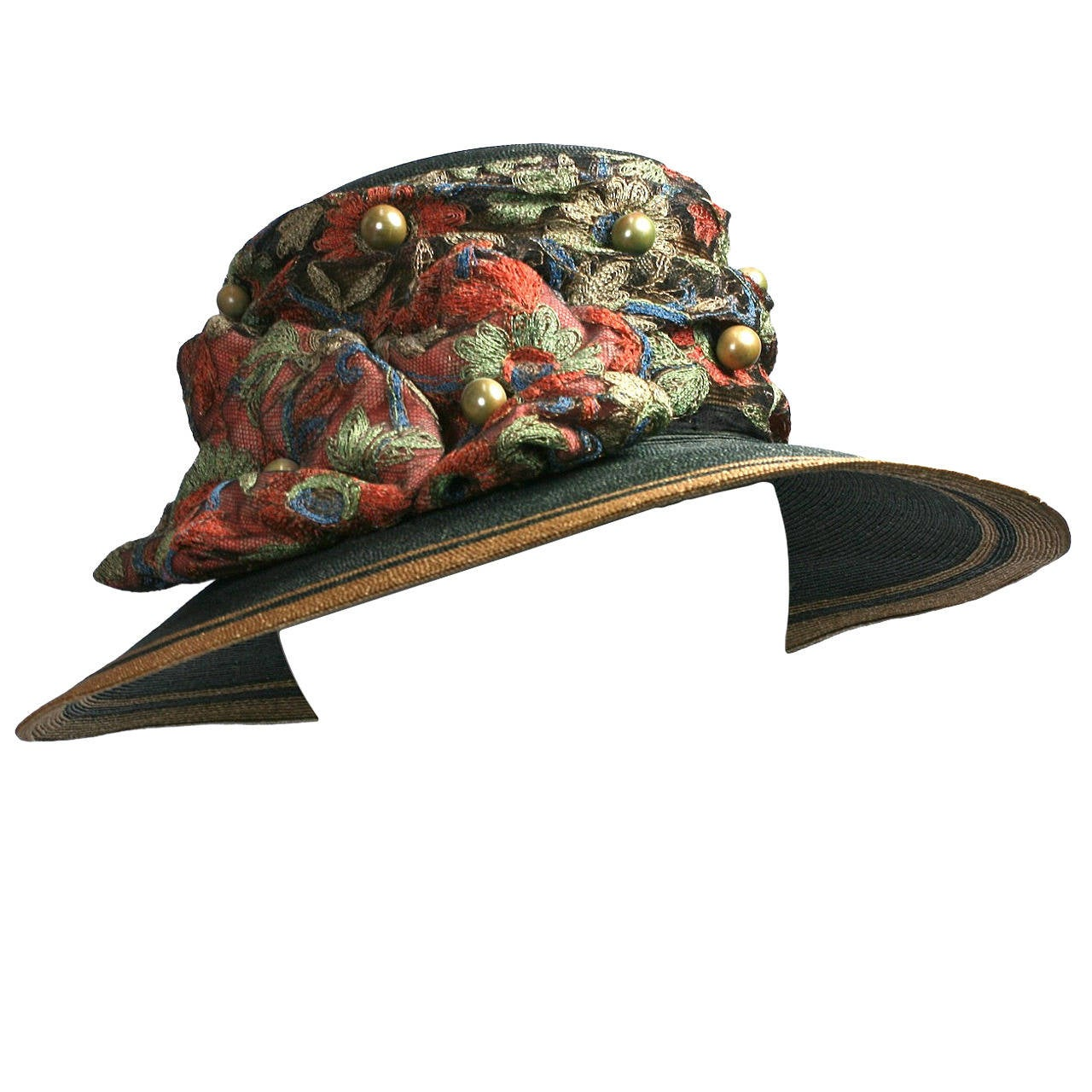 Edwardian Straw Afternoon Hat For Sale