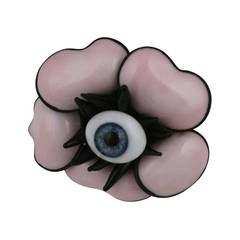 Pink Pate de Verre Poppy Ring, MWLC