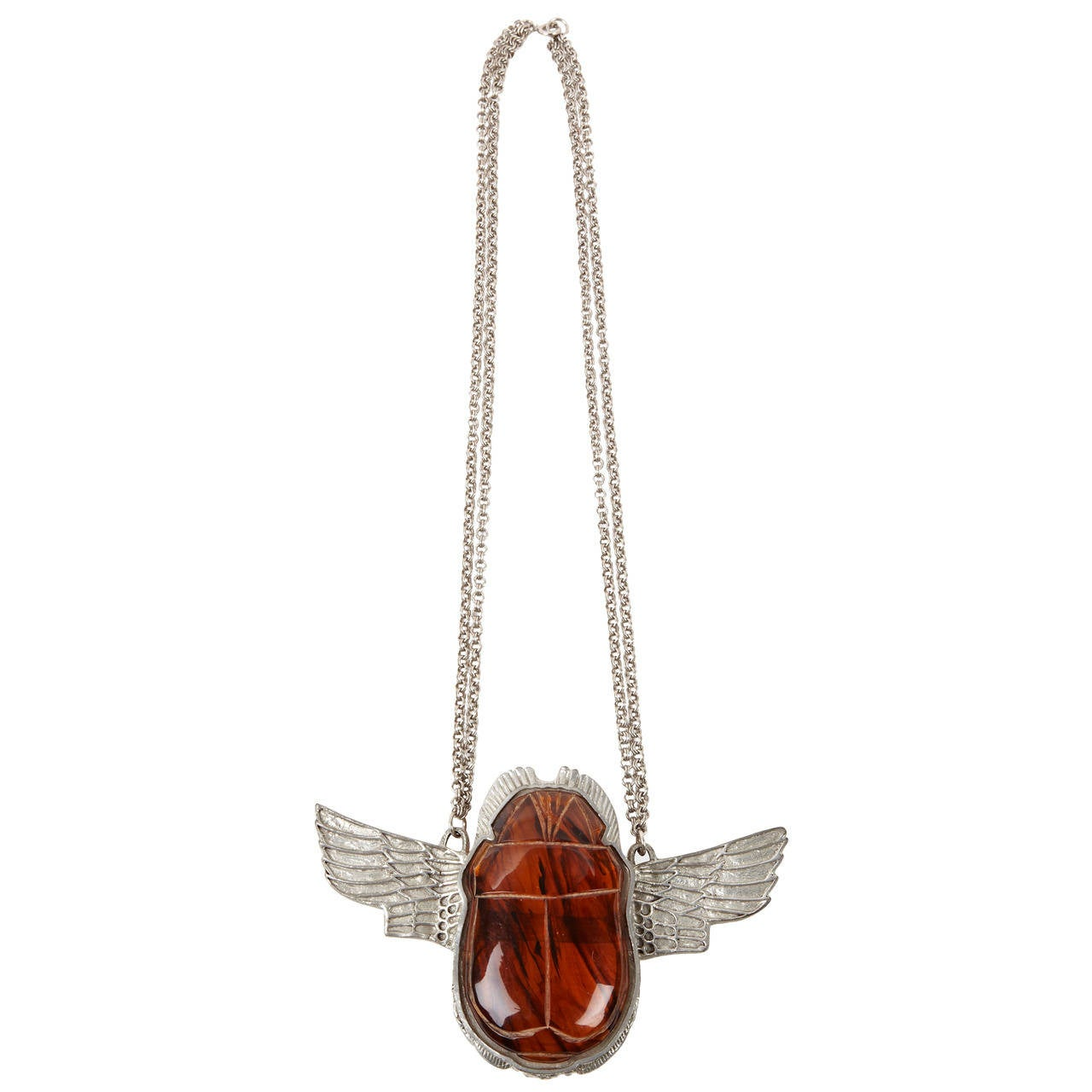 Alexis Kirk Egyptian Winged Scarab Necklace At 1stdibs