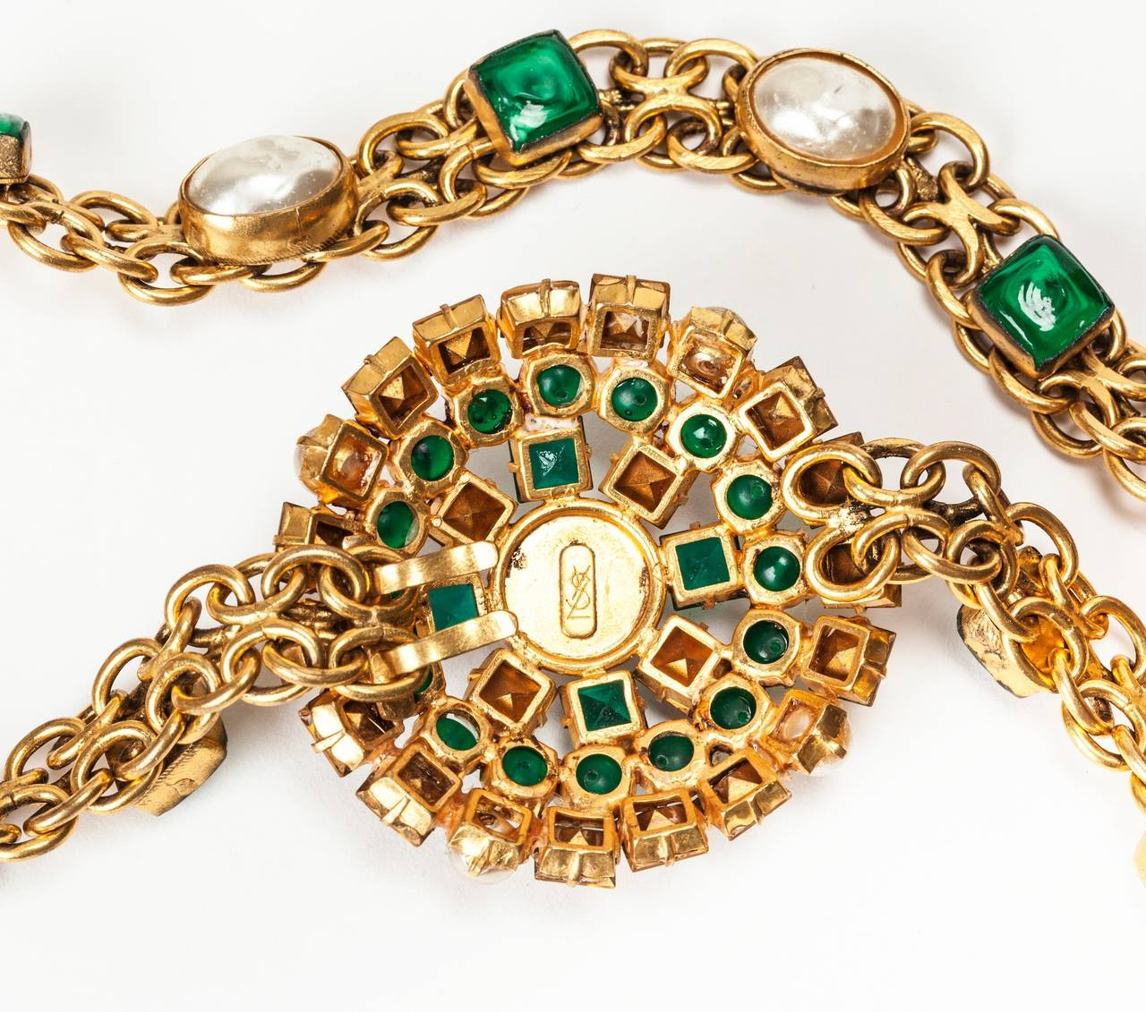 Yves Saint Laurent Haute Couture Jeweled Belt Goossens