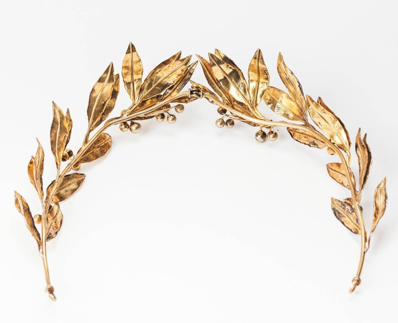 Neo Classical Laurel Wreath Diadem 3