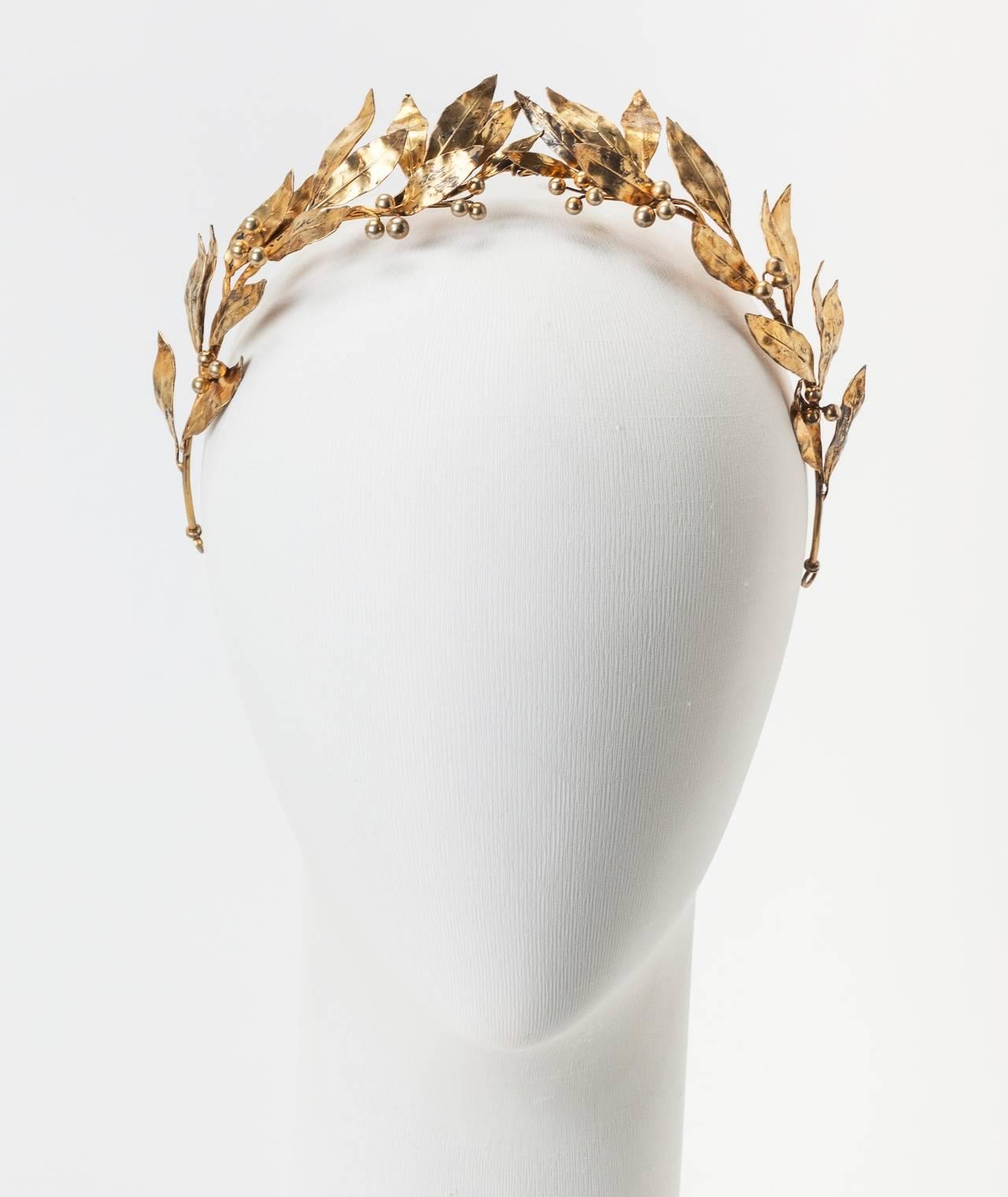 Neo Classical Laurel Wreath Diadem 4