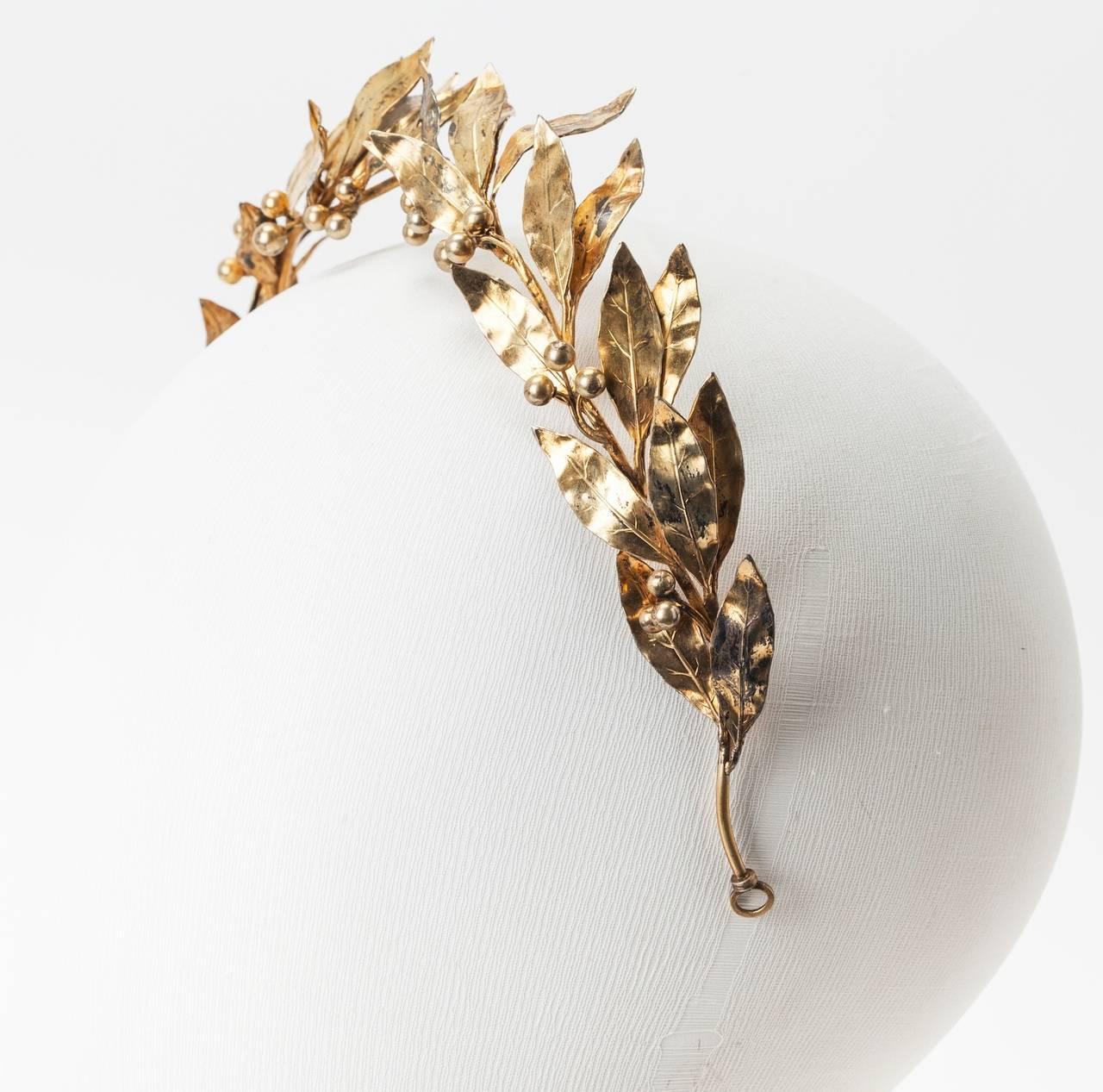 Neo Classical Laurel Wreath Diadem 5