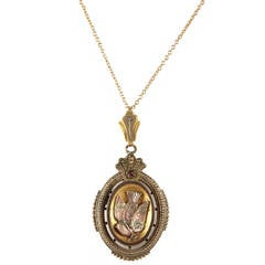Victorian Tricolor Locket