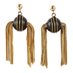 Unusual Victorian Golden Snitch Earrings