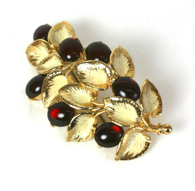 Schiaparelli Berry Branch Brooch In Excellent Condition For Sale In Riverdale, NY