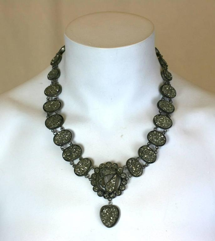 Wonderful Victorian Pyrite Necklace For Sale 1