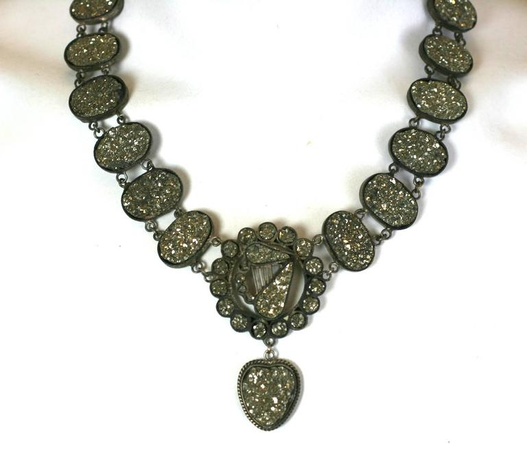 Wonderful Victorian Pyrite Necklace For Sale 2