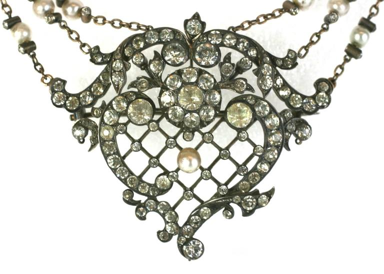 Exceptional Edwardian Paste Corsage Ornament  2