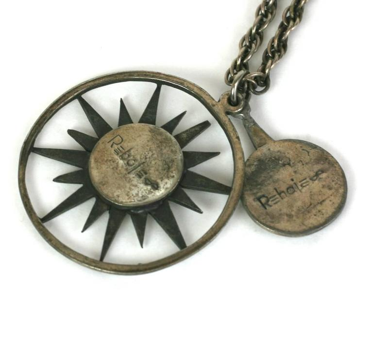 Rebajes Sun Moon Pendant Necklace In Excellent Condition For Sale In Riverdale, NY