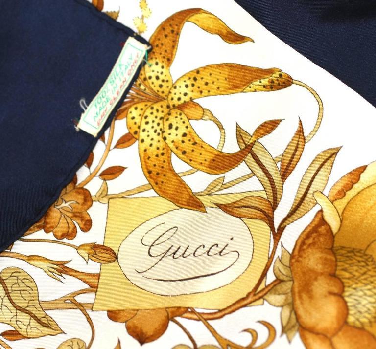 Gucci Floral Bouquet Scarf For Sale 1