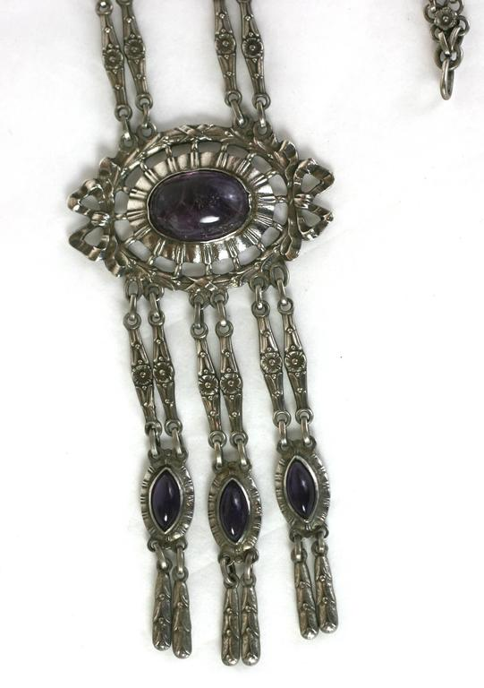 Silver and Amythest Edwardian Necklace 3