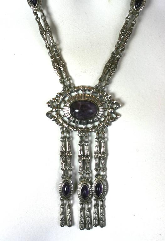 Silver and Amythest Edwardian Necklace 6