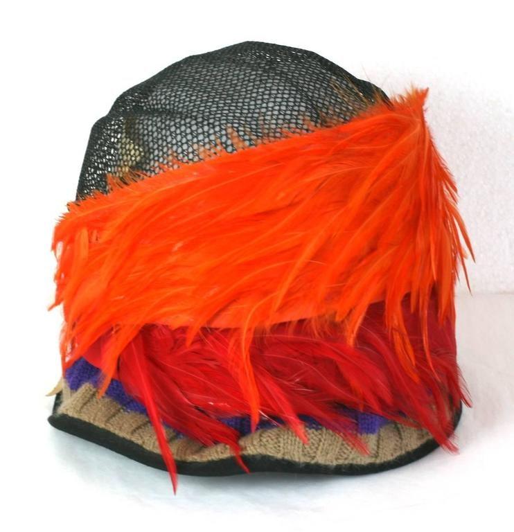 Women's Prada Spring 2005, Exotic Feather Cloche Hat For Sale