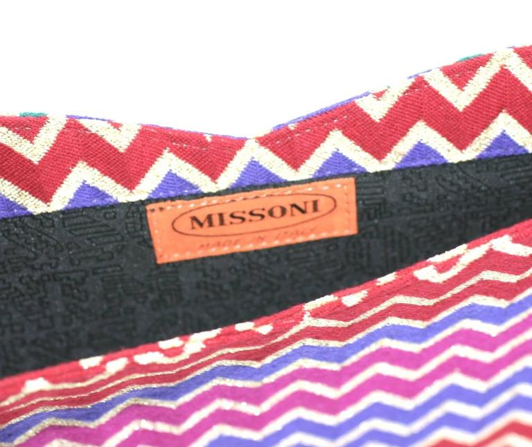Missoni Signature Zig Zag Clutch In Excellent Condition For Sale In Riverdale, NY