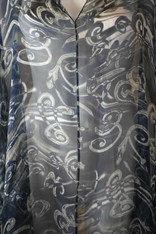 Salvatore Ferragamo Silk Chiffon Poncho In Excellent Condition For Sale In Riverdale, NY