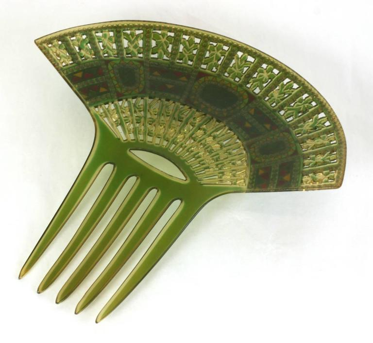 Women's Art Deco Eygptian Revival Comb For Sale