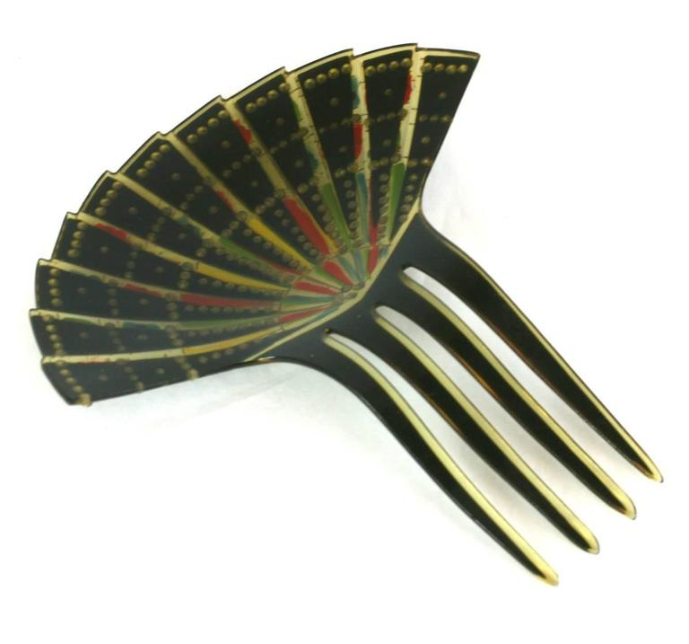 Eygptian Revival Art Deco Comb In Excellent Condition For Sale In Riverdale, NY