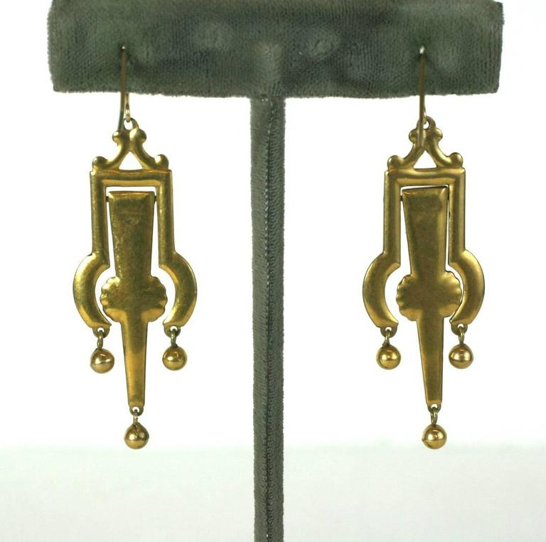 Victorian Articulated Enamel Drop Earrings 2