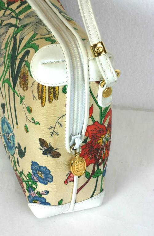 gucci floral print mini shoulder bag for sale at 1stdibs