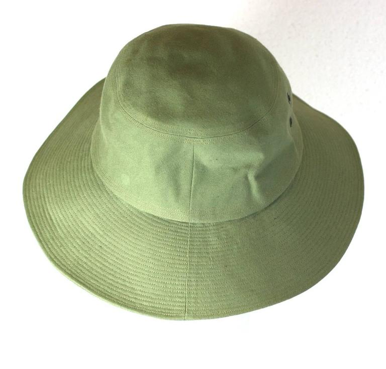 69caa325af7 Yves Saint Laurent Green Twill Fisherman s Hat For Sale at 1stdibs