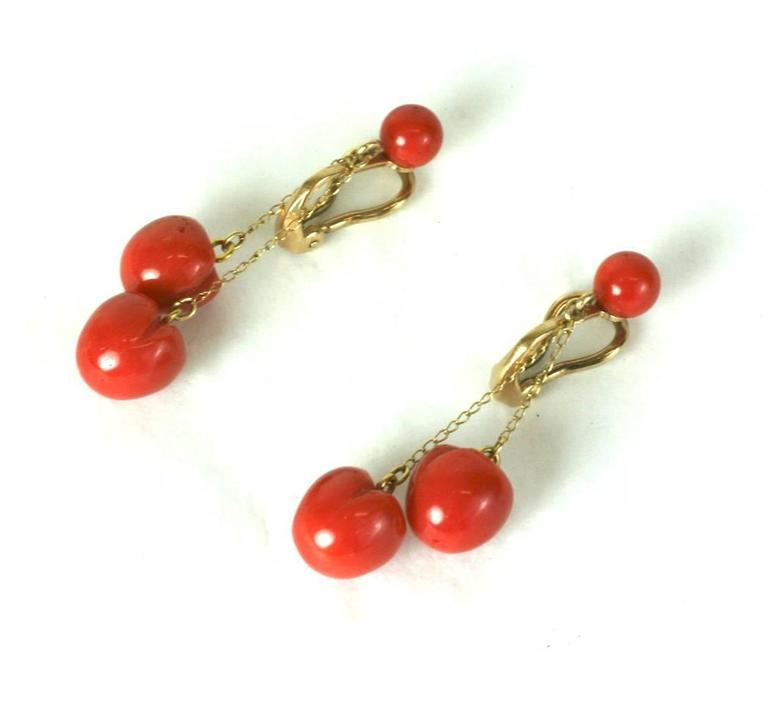 """Women's Charming Coral """"Cherry"""" Earrings For Sale"""