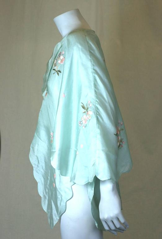 Edwardian China Silk Butterfly Blouse In Excellent Condition For Sale In Riverdale, NY