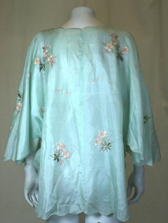 Women's Edwardian China Silk Butterfly Blouse For Sale