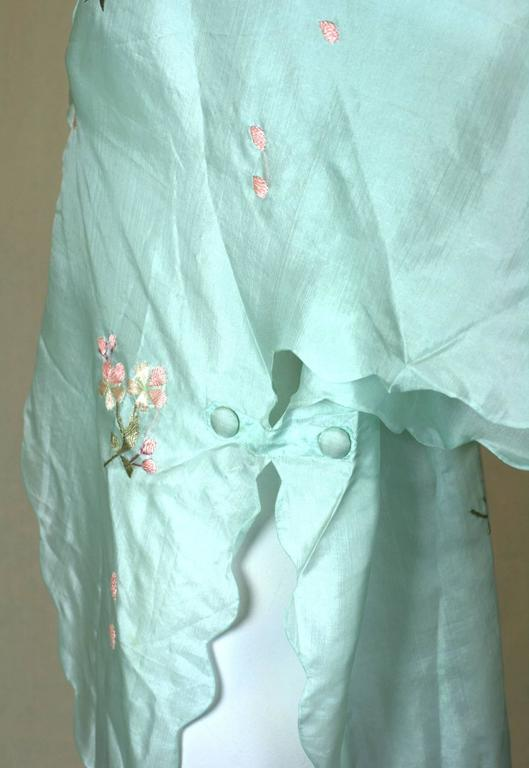 Edwardian China Silk Butterfly Blouse For Sale 2