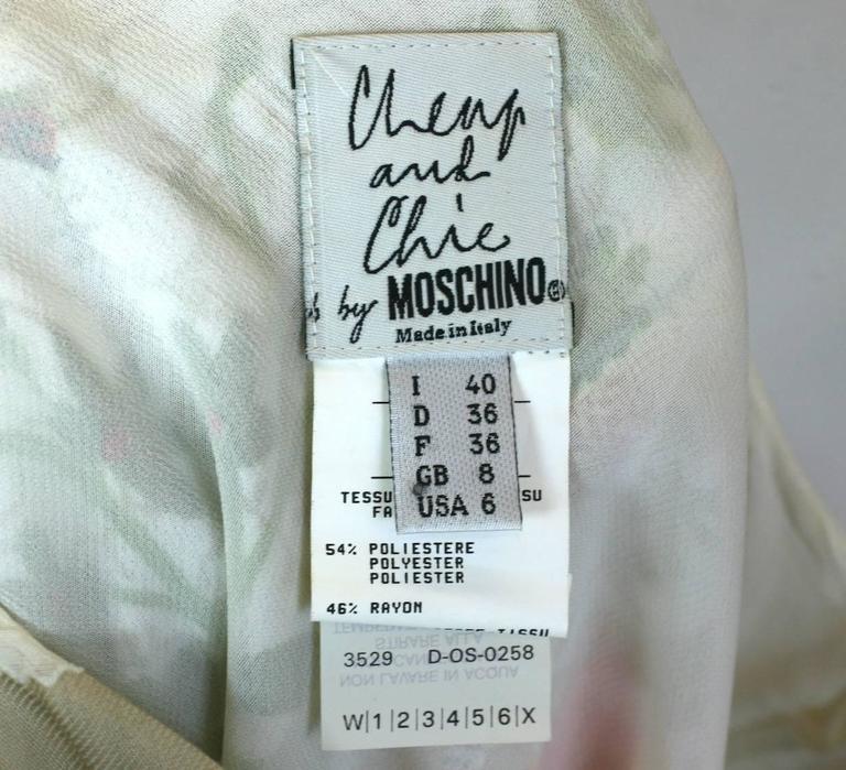 Women's Moschino Printed Chiffon Fabric Swatch Skirt For Sale