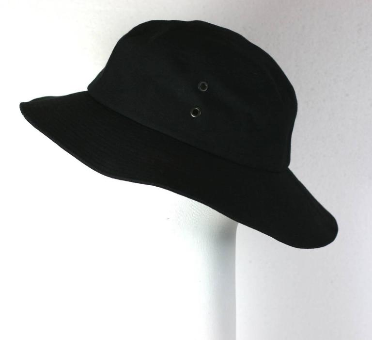 87228da3f5b Yves Saint Laurent Black Fisherman s Hat In Excellent Condition For Sale In  Riverdale