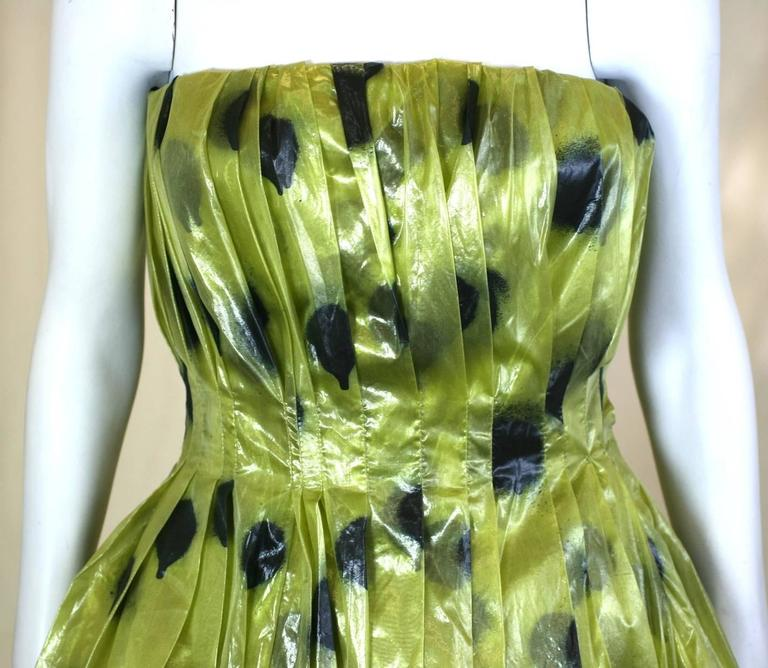 "Moschino Lacquered Organza ""Paint Ball"" Party Dress 4"