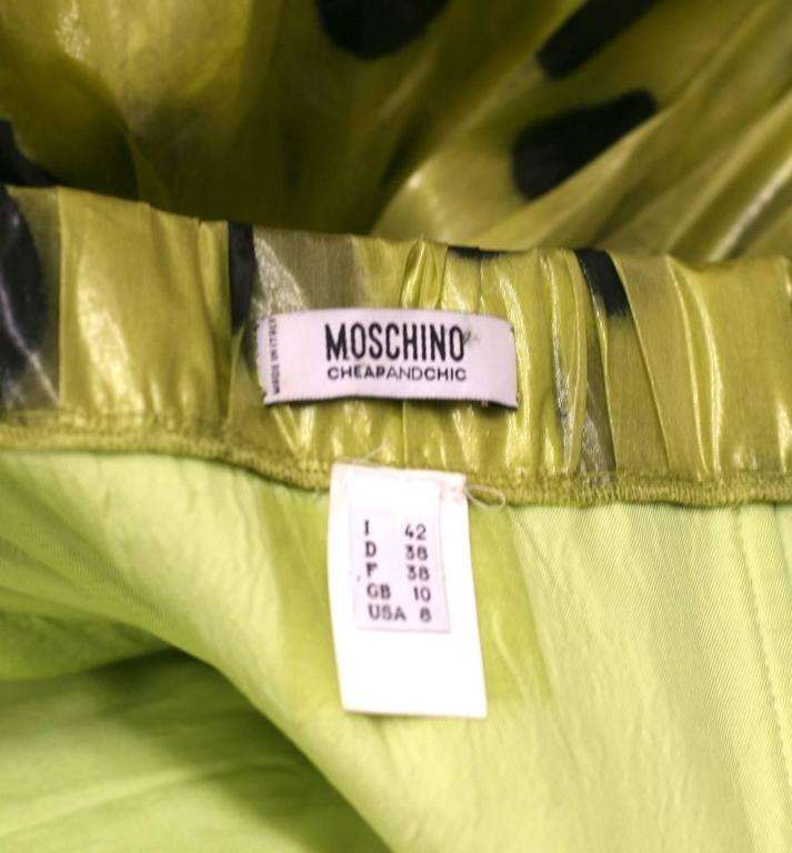 "Moschino Lacquered Organza ""Paint Ball"" Party Dress 9"