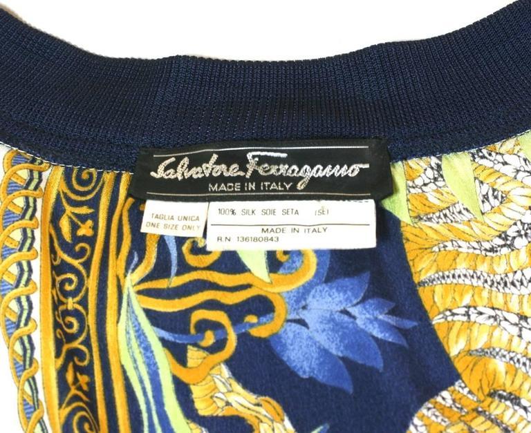 """Salvatore Ferragamo Silk Crepe """"Sweater""""  6"""