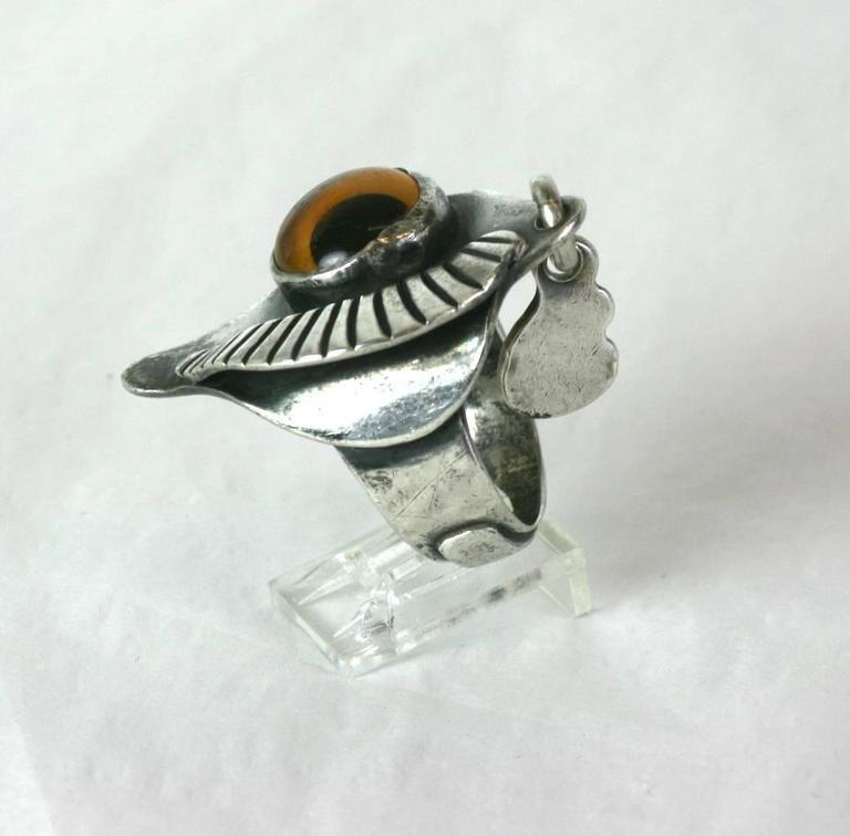 Modernist Sam Kramer Eye Ring For Sale