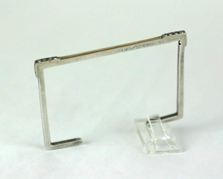 Unusual Modernist Rectangular Bangle M Amp J Savitt For Sale