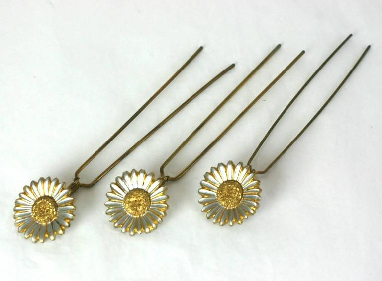 Charming Victorian Tremblant Sunflower Hair Picks 2