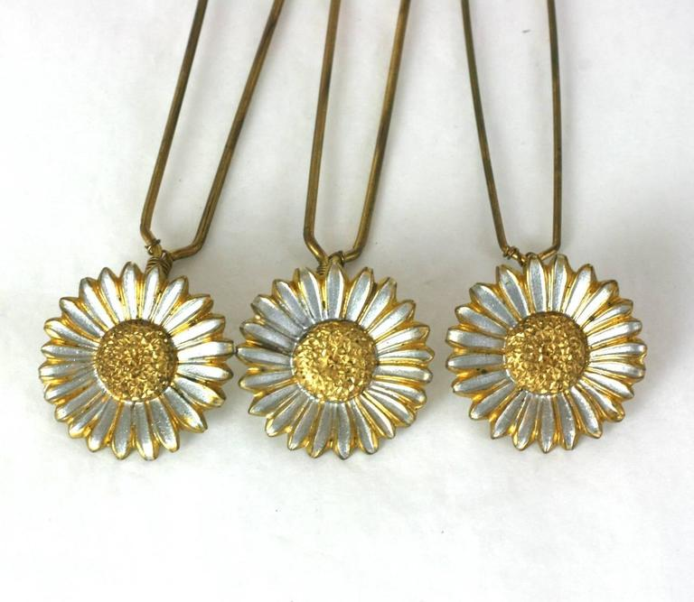 Charming Victorian Tremblant Sunflower Hair Picks 4