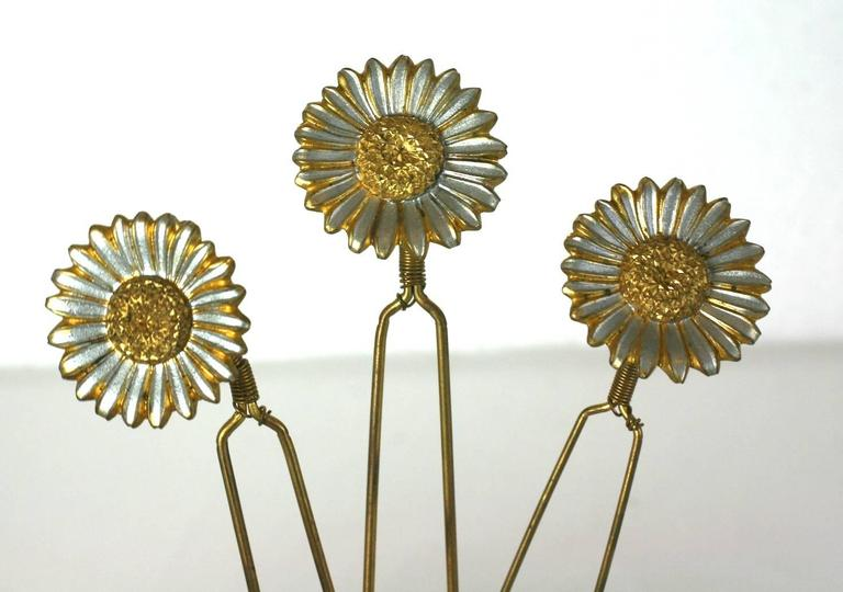 Charming Victorian Tremblant Sunflower Hair Picks 5