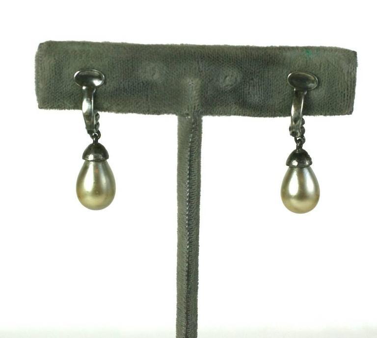 art deco paste drop earclips for sale at 1stdibs. Black Bedroom Furniture Sets. Home Design Ideas