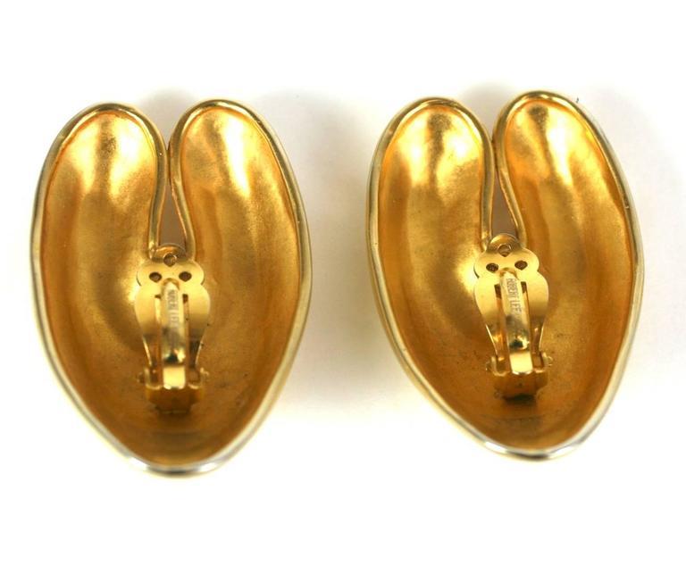 Robert Lee Morris Matte Gold Ear Clips For Sale 1
