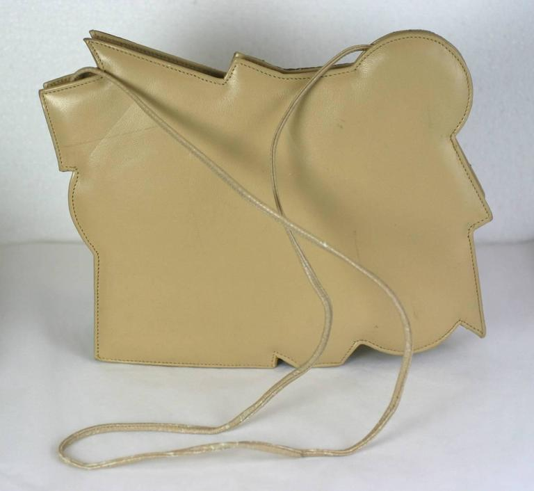 Carlos Falchi Pieced Snake and Calf Bag In Excellent Condition For Sale In Riverdale, NY