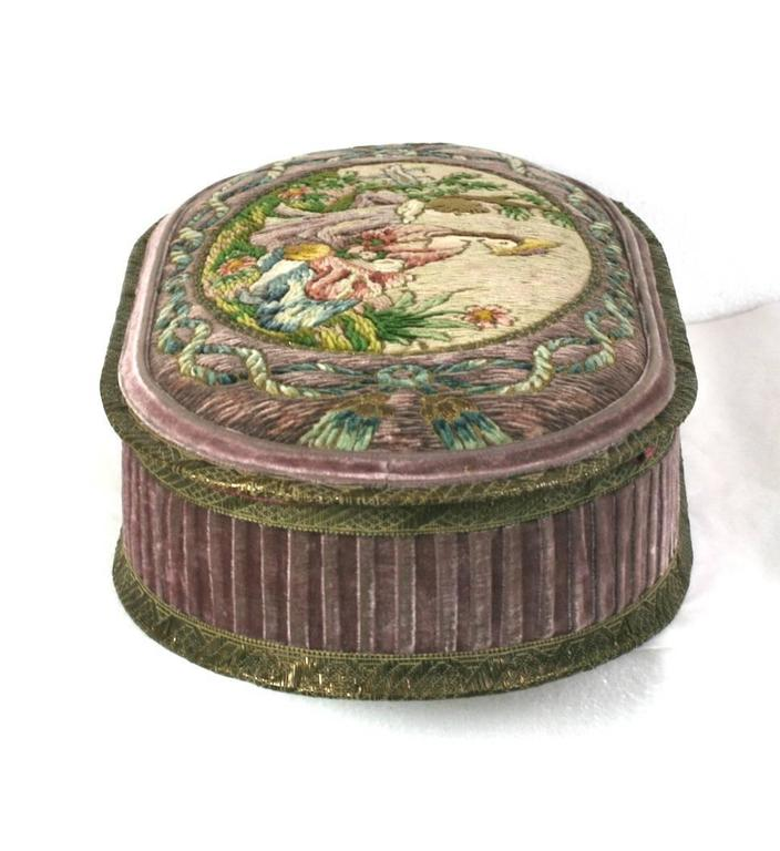 Wonderful  Deco French Boudoir Box with Chenille Embroidery 3