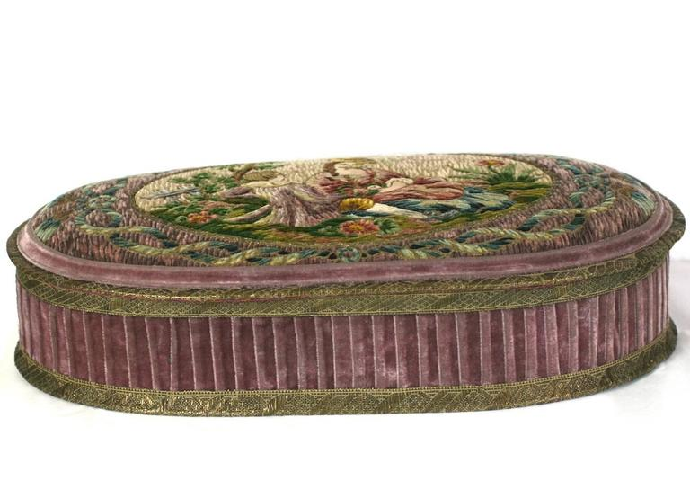 Wonderful  Deco French Boudoir Box with Chenille Embroidery 2