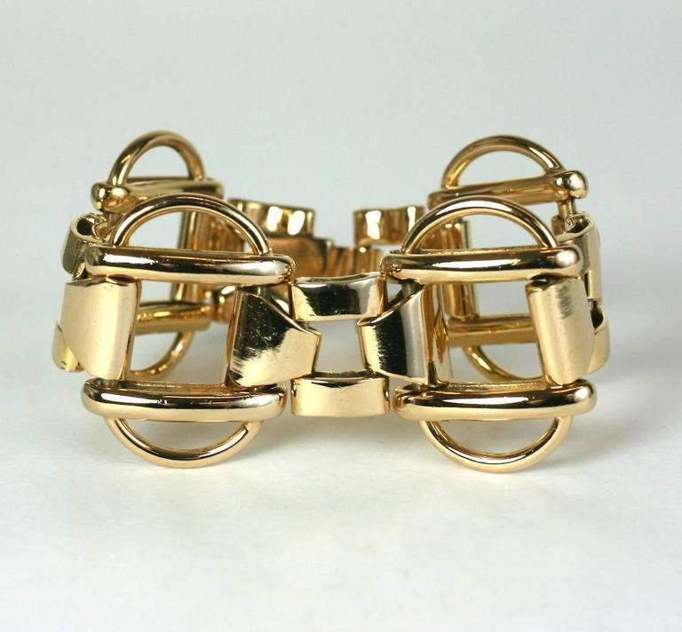 1940's Retro Link Bracelet In Excellent Condition For Sale In Riverdale, NY