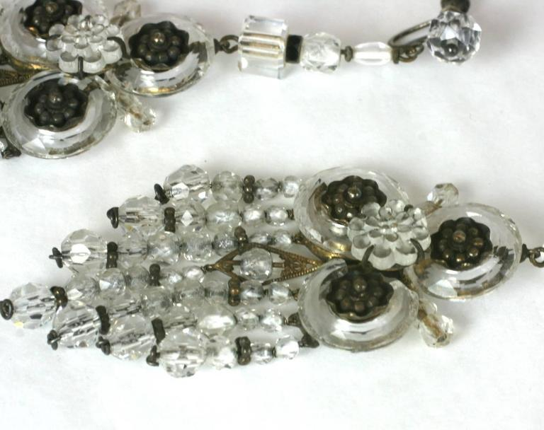 Wonderful Chinese Art Deco Rock Crystal Fringe Earrings For Sale 4